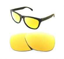 NEW POLARIZED CUSTOM 24k GOLD LENS FOR OAKLEY FROGSKINS SUNGLASSES